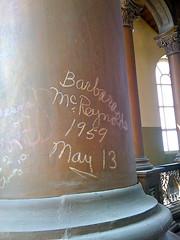 graffiti in the dome