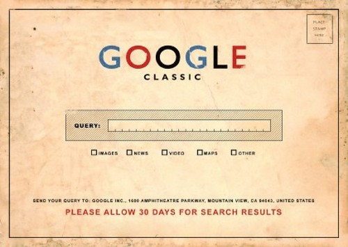 Google Classic: Please Allow 30 Days for your Search Results (Original artist unknown)
