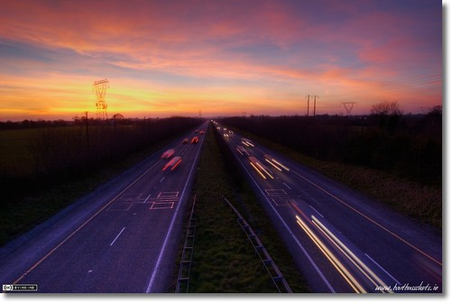 Nightfall over the M4
