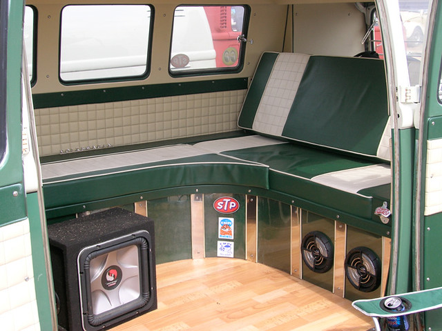 Vw camper van interior flickr photo sharing for Van interior designs