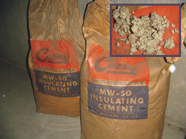 Carey mw 50 asbestos insulation full bags a photo on for Philip carey asbestos