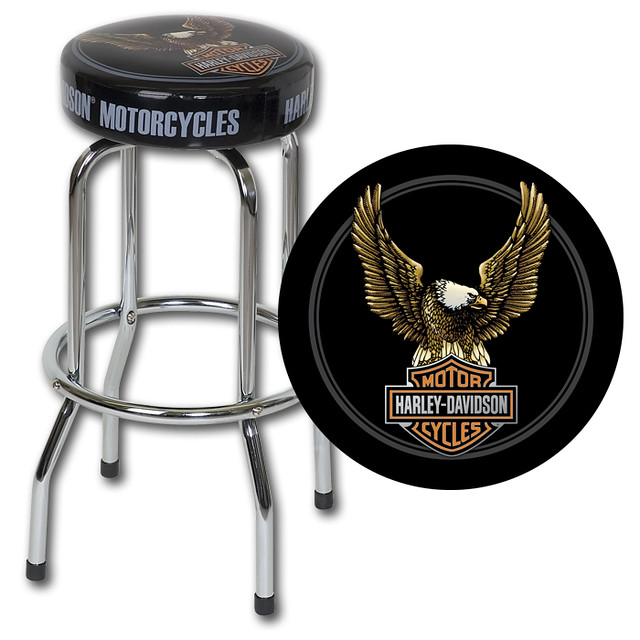 Harley Davidson Bar Stool Bar & Shield Eagle