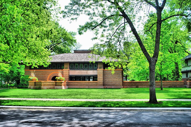 The Arthur B. Heurtley House (Frank Lloyd Wright, 1902), Oak Park, IL