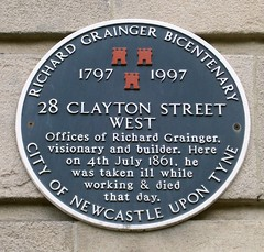 Photo of Richard Grainger black plaque