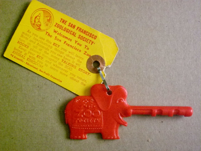 "Red ""Long Trunk"" Elephant San Francisco Zoo"
