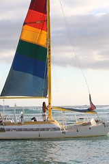 yacht racing(0.0), sailing ship(0.0), yacht(0.0), ship(0.0), sports(0.0), proa(0.0), lugger(0.0), passenger ship(0.0), dinghy sailing(0.0), catamaran(0.0), sail(1.0), sailboat(1.0), sailing(1.0), sailboat racing(1.0), keelboat(1.0), vehicle(1.0), sailing(1.0), sea(1.0), mast(1.0), watercraft(1.0), boat(1.0),