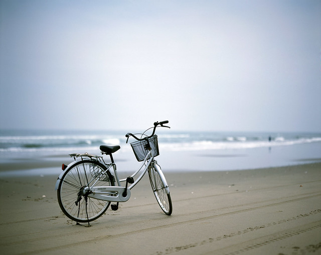 Bicycle in beach