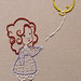 First Embroidery: Girl with Balloon