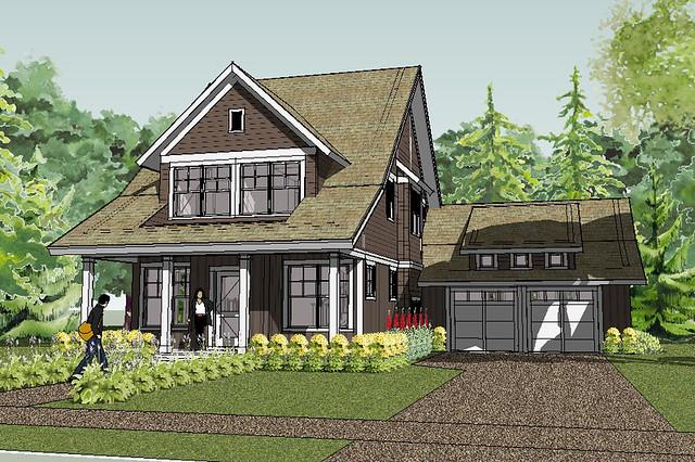 Bayport Bungalow House Plan Rendering | Flickr - Photo ...