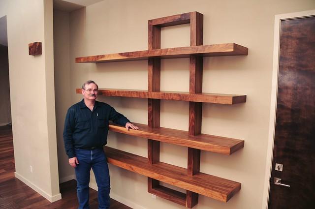 Build wood shelving units