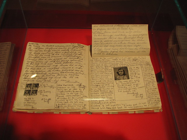 Anne Frank Diary at Anne Frank Museum in Berlin