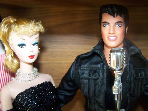 Vintage Repro Barbie and Elvis
