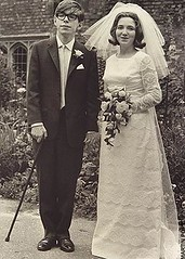 Stephen Hawking and his first wife Jane in 1965