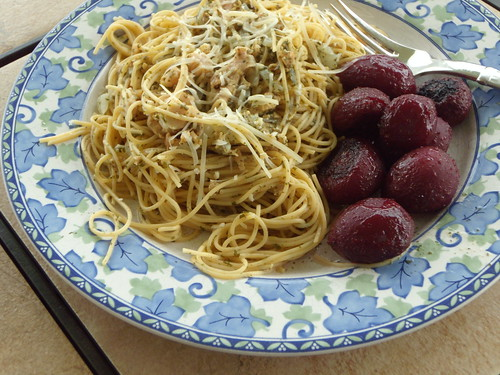 Clam Linguine With Roasted Baby Beets