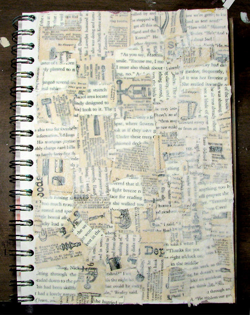 collage book page start