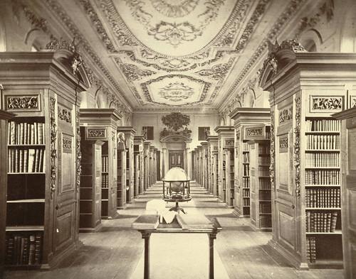 Cambridge. King's College Library (Interior)