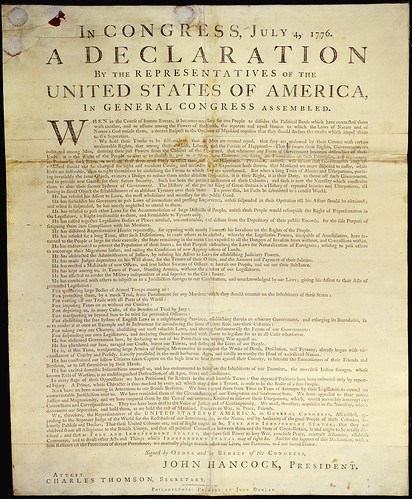 Dunlap Broadside [Declaration of Independence]