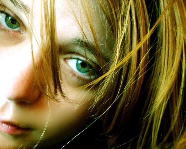 Chica de ojos verdes