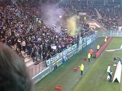 Supporters grenoblois lors de Grenoble 0-0 PSG