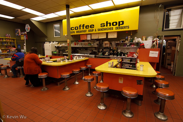 Save-On-Meats Coffee Shop , the original.