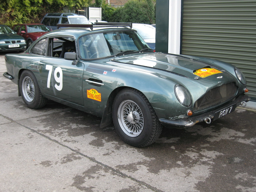 aston martin db5 rally car   this db5 is heavily modified an…   flickr