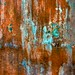 rust and turquoise texture for layer