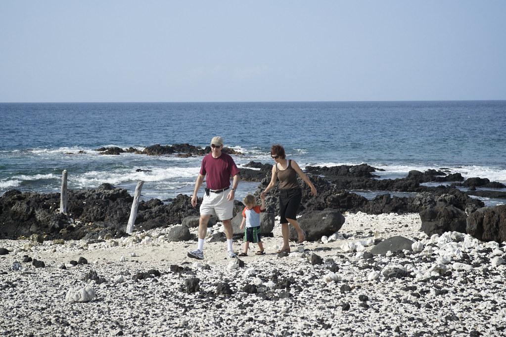 Lorenz, David, & Sis Walking on the Beach