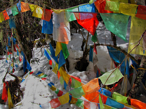 Prayer Flags-Yubeng Trek-Deqin-Yunnan Province-China by mikemellinger