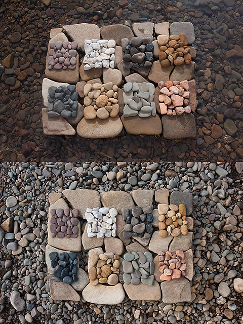 Pebble Square Diptych