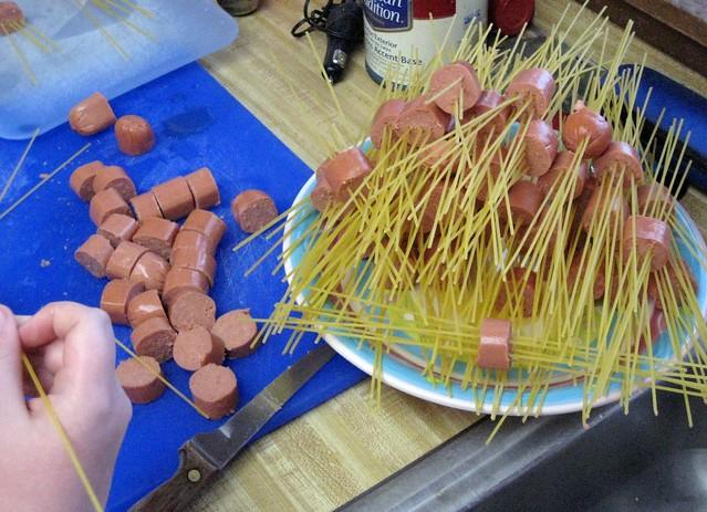 Spaghetti Hot Dog Spiders