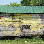Chicken Baby Street Art - Livingston, Guatemala