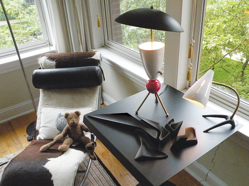 Starck Bear, Zaha Hadid piece, & Stilnovo lamps