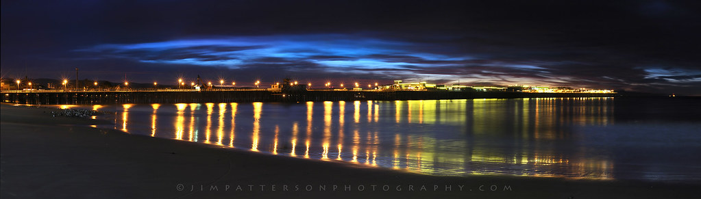 Santa Cruz Wharf Panorama at Dawn by Jim Patterson Photography