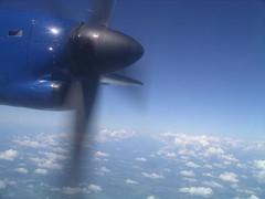 Flight over Scandinavia