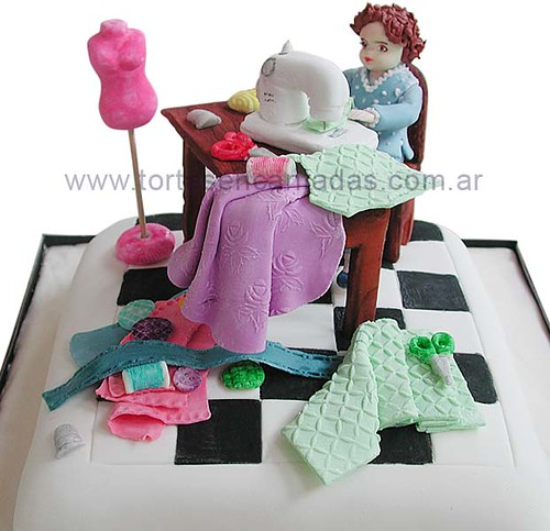 Costurera Torta Para Abuelita