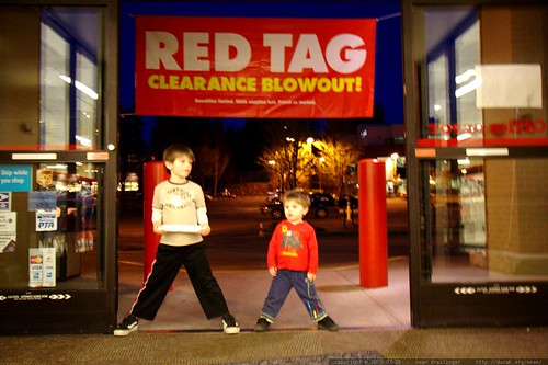 special  two for one deal on kids   red tag clearance blowout!    MG 9949