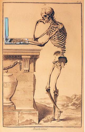 Anatomy of a Blogger, after Encyclopédie, ou dictionnaire raisonné des sciences, des arts et des métiers