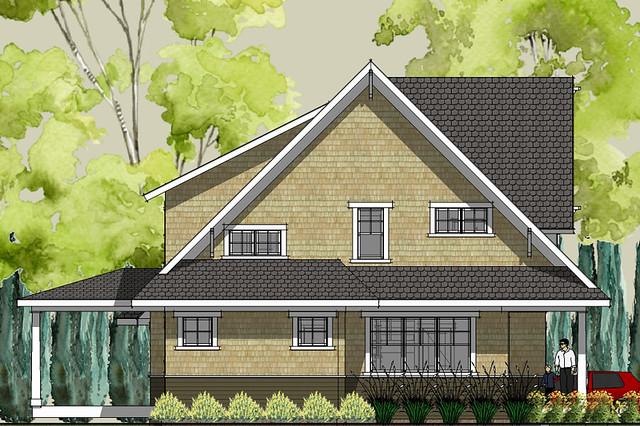 Stillwater craftsman house plan left elevation | Flickr ...