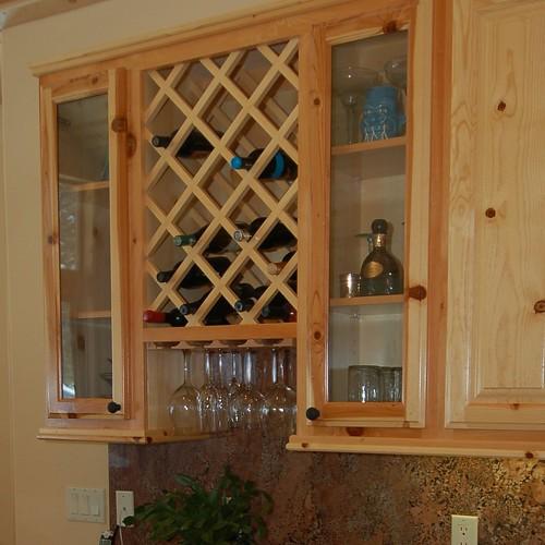 Kitchen wine rack cabinet kitchen wine rack cabinet for Wine rack in kitchen ideas