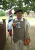 ColonialWilliamsburg- CostumedAleDrinker