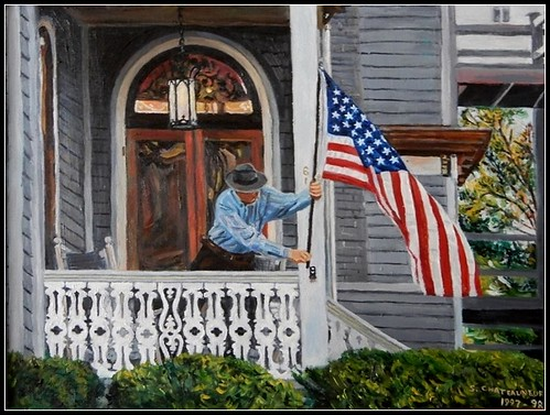 Stars & Stripes - Oil Painting by STEVEN CHATEAUNEUF - Original Version - Photo Also by STEVEN CHATEAUNEUF