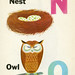 N is for Nest & O is for Owl by joanna howell :: little bird t-shirts