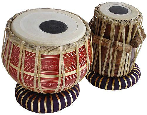 Indian Musical Instruments Tabla Tabla Pair Golden red model