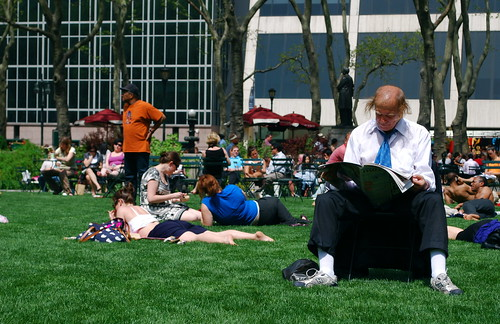 heat wave in bryant park