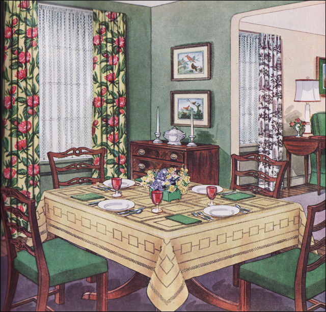1950s dining rooms a gallery on flickr for Dining room tables 1940s