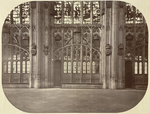 Cambridge. King's College Chapel (interior, side chapels).