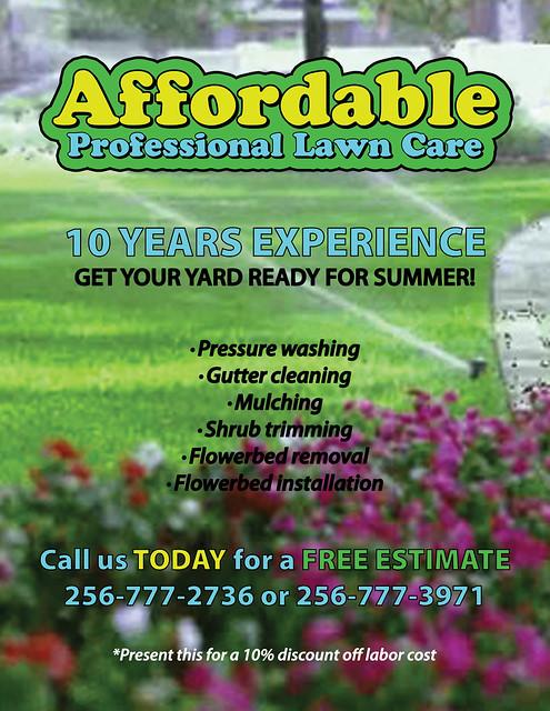 lawn service flyers