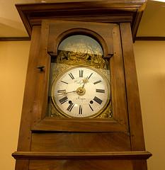decor, furniture, wood, longcase clock, antique, clock,