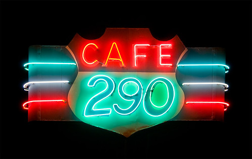 classic sign night cafe neon texas diner manor 290