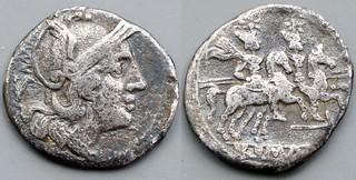 73/2 Cornelia dolabella Quinarius. Roma Dioscuri, AM#0939-20